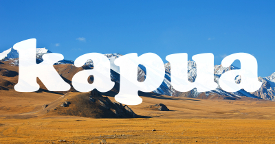 Kapua featured - Mountain and steppe pastures in the Tien Shan. The Issyk-Kul region Kyrgyzstan