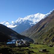 Vuoristomaisema Nepalissa